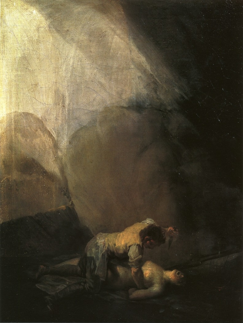 Francisco Goya - Brigand Murdering a Woman 1798-1800
