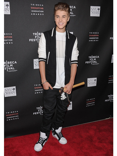 Party-hopping: The Tribeca Film Festival drew famous faces including Justin Bieber, Emma Watson and Amber Riley. Check out what they wore on the red carpet here »