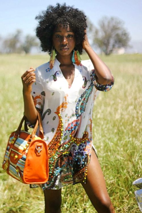 blackfashion:  This is from a really afro-centric photo shoot I did. I hope you like it :)