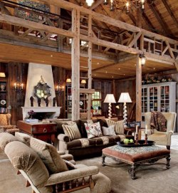 georgianadesign:  Old barn makeover by Penny Drue Baird. Architectural Digest.