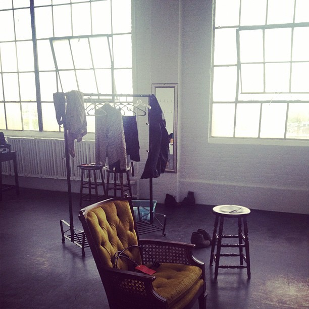 Behind the scenes of today's photo shoot…  (Taken with instagram)