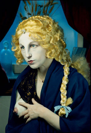 Sorry, forgot to post Cindy Sherman's take on the virgin Mary in relation to my post called 'Virgins, various'.