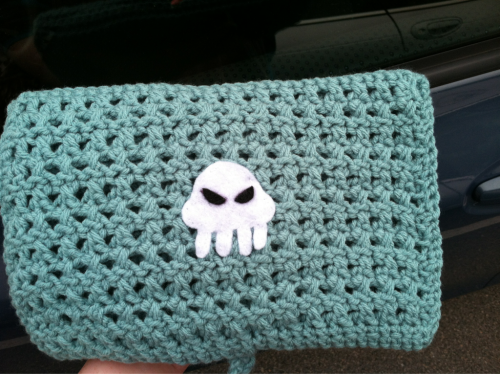 Rose's laptop case redone as a crochet hook case