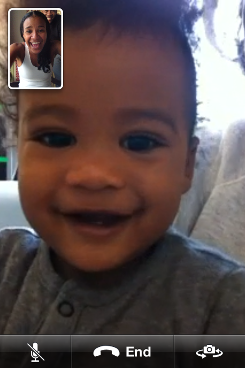 FaceTime Excited about video chat with our little guy.