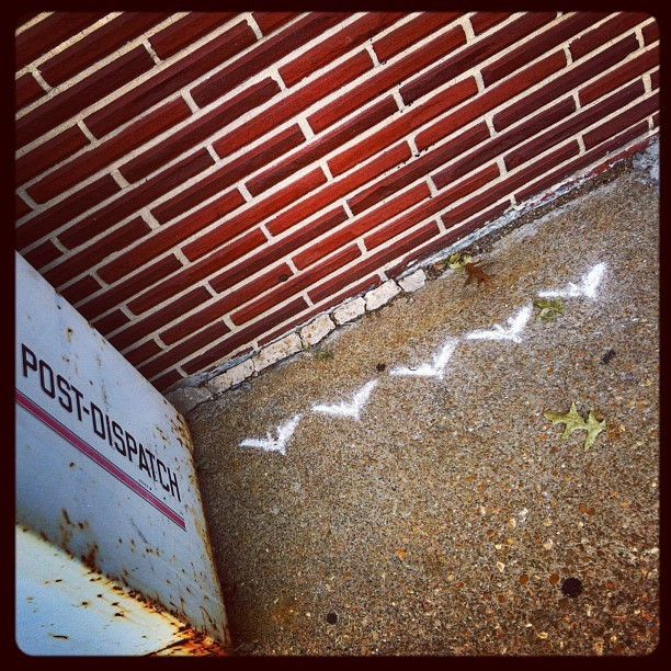 Graffiti evidence that The Batman may have been at The Royale! #tdkr07202012 (Taken with Instagram at The Royale). Part of the viral campaign for The Dark Knight Rises.