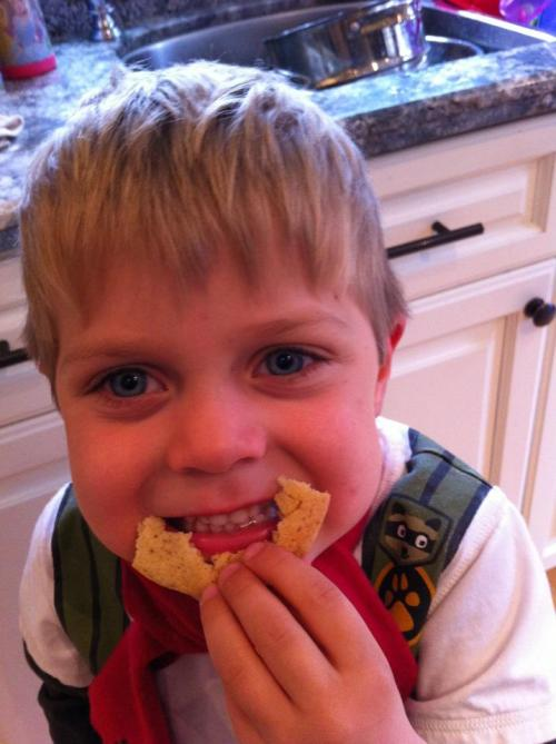 "Ben say's that ""Cookie Joy"" make him smile;)"