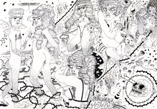 deathmirror:  Heather Benjamin  my drawing for the centerfold of the upcoming DEATH MIRROR