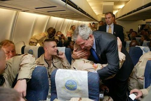 Say what you want about his policies, but George Bush is an honorable man when it comes to supporting the people he has sent in harm's way.