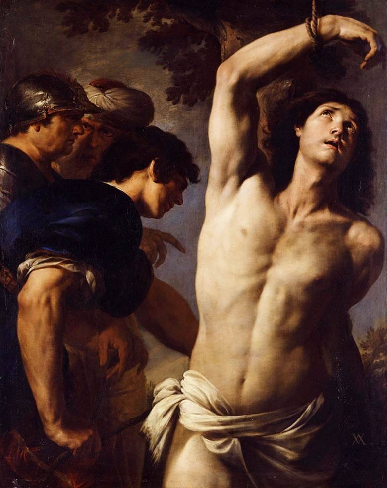 blastedheath:  hotguysinart: Andrea Vaccaro (Italian, 1604-1670) The Martyrdom of Saint Sebastian Oil on canvas. Galerie Canesso, Paris