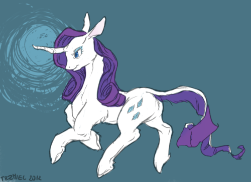 Rarity is my favourite pony so I made fanart of her ohohohoh c: