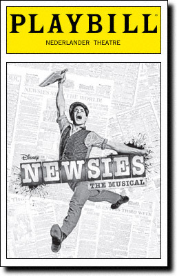 I'd watched Newsies, the movie, once a few months ago. It was OK. To be honest, I didn't truly understand the hype, but I still wanted to see the stage version which everyone was going insane over at Papermill last year and now again on Broadway. Newsies is about a group of newsies, the paperboys, form a union after the newspaper publishers unexpectedly and unfairly raise their prices.  The story is engaging but probably not as much if the cast wasn't as top-notch. Jeremy Jordan is sexy and charming as the head of the newsies union Jack Kelly, and his love interest and biggest cheerleader Katherine, played by Kara Lindsay, is absolutely lovely and has a beautiful voice. Jon Dossett is evil and conniving as the head of the newspaper with questionable practices, Pulitzer. Andrew Keenan-Bolger and Ben Frankhauser are continuously entertaining as Crutchie and Davey, newsie confidants of Jack Kelly. It's very unique for an audience to have such high energy before a show begins. I experienced this only when working at Mamma Mia back in 2008 where every single person, practically, was so excited to be seeing that show. Well, Newsies is also a show like that. The amount of screaming after each song was loud, and at some points almost deafening. It was annoying at first, but in the end, it energized the cast even more and so we, the audience, were given a better performance.  The set is incredibly simple, but intricate to look at and I'm rendered speechless when trying to find a way to describe it. Newsies is hands-down going to win the TONY Award for Best Choreography. The other nominees can just go home (yes, even though they've yet to be announced). The ensemble work their asses off and give 100% in every number.  I'm not converted to a Newsies groupie by any means, but the show is a lot of fun. And who could say they don't like looking at Jeremy Jordan for two and a half hours? You'd have to be crazy to not enjoy that.