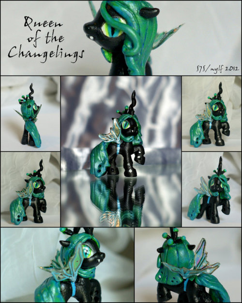 Chrysalis, Queen of the Changelings- bb MLP Custom by ~wylf Have you entered to win one of two custom pony commissions? Enter now and help a cat!