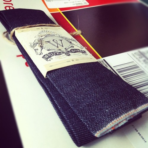 White Horse Trading Company #conemills #selvedge #madeinusa denim tie (Taken with instagram)