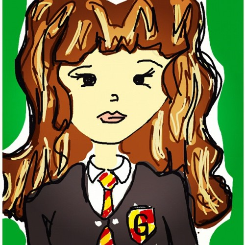 #DrawSomething #Hermione #HarryPotter #Draw #iPad  (Taken with instagram)