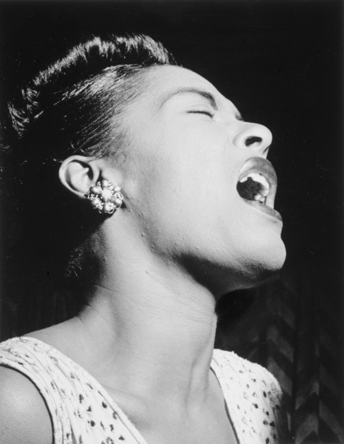 unacclimated:  Portrait of Billie Holiday from Down Beat Magazine - Feb. 1947