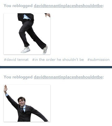 davidtennantinplacesheshouldntbe:  David tennant in an order he shouldn't be.