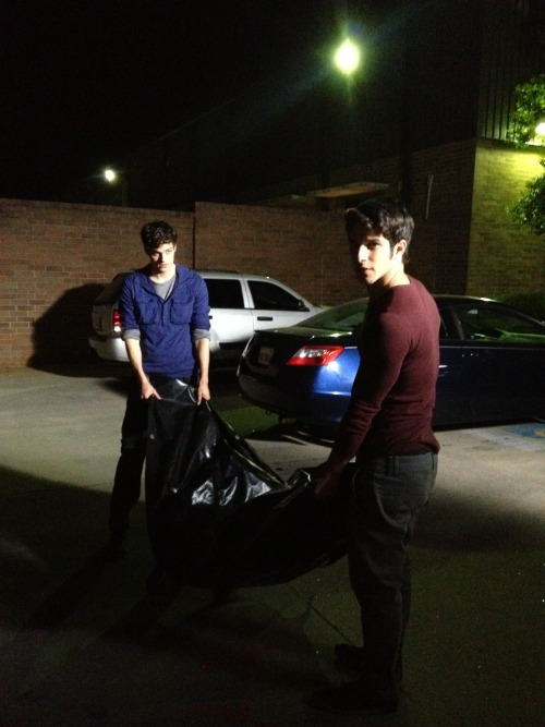 Tyler Posey and Daniel Sharman dispose of a body…