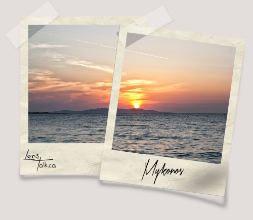 lens-talk:  Sunsets, never a bore Mykonos, Greece