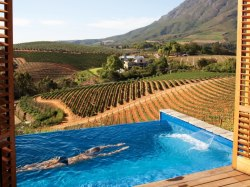 Fuck Yeah, I Want to Swim Here. (The Delaire Graff Lodges and Spa, Stellenbosch, South Africa) via Conde Nast Traveller