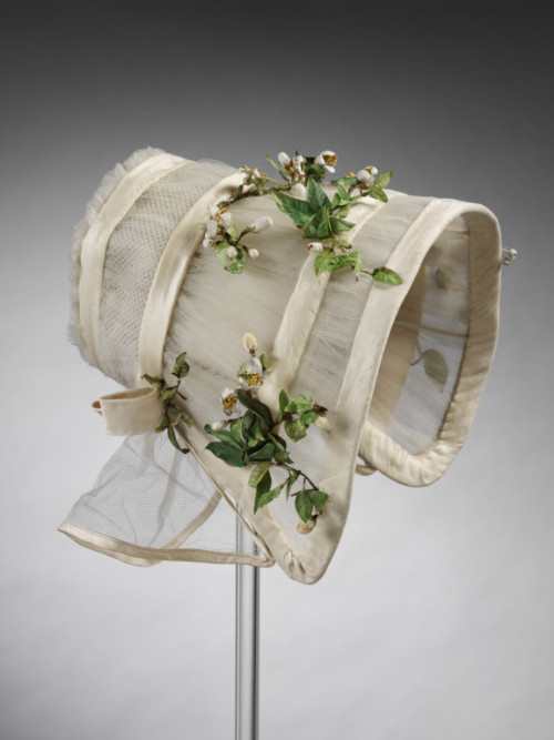 Wedding Bonnet 1845 The Victoria & Albert Museum