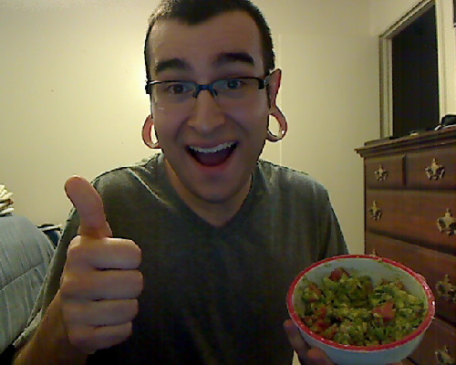 Celebrating Sharon Needles' win with some guacamole!!!