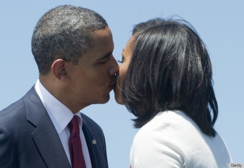 Obama PDA: Michelle & Barack Share A Moment At Fort Stewart
