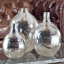 (via Regina Andrew Set Of 3 Antique Mirror Glass Wine Spheres - Regina-405-504set | Candelabra, Inc.)