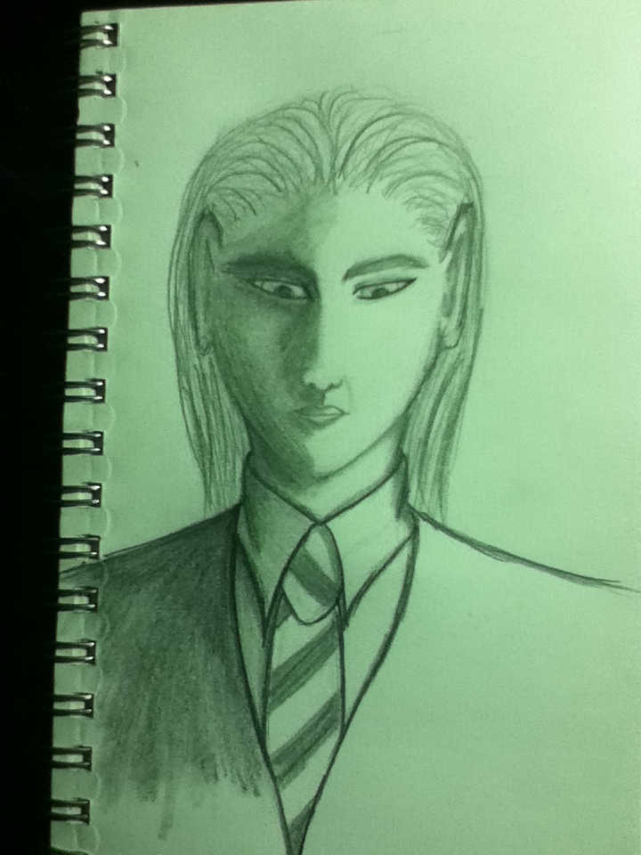 The slow fall of the noble house of Malfoy. Yup, I'm out of practice for drawing.