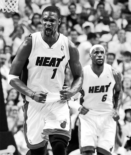 -heat:  Bosh had 21 points today
