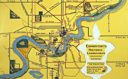 """Edmonton's Historic Landmarks"" - from the City of Edmonton Archives' first virtual exhibit: ""Ella May Walker (1892-1960) was an Edmonton musician, artist, author and advocate for Edmonton's history. She had a wide variety of interests and was very active in the local cultural life. She was also a working mother of two sons which was rare for her time."""