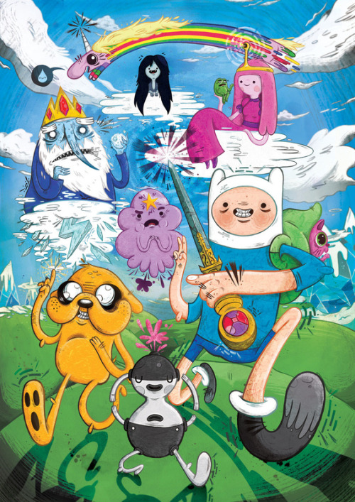 insanelygaming:  Adventure Time Fan Art Created byJames Burlinson Available onSociety6 Flickr  Website  Twitter  Tumblr