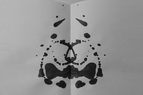 inkblotoftheday:  Inkblot of the Day #89 Instructions: Tell me what you see. -Enjoy  It's a bemusedly surprised cheetah wearing a bow-tie!