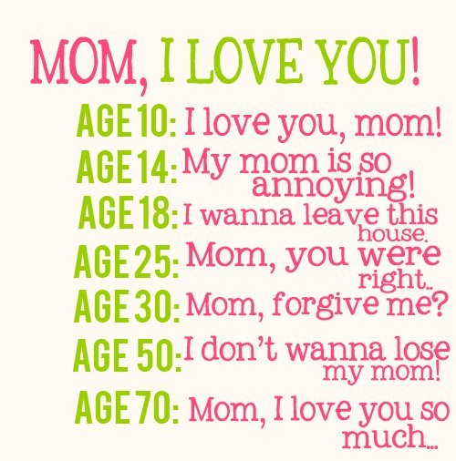 I love my mama so much! Can't wait for Mother's Day! <3
