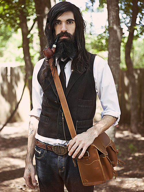 fuckyeahbeards:  A blend of Gentleman with Adventurer- Cody Vance of ML Leather