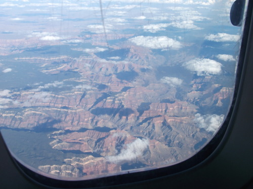 This is what I saw looking out the window of my last flight back to Arizona. I have yet to go to the Grand Canyon. I have lived here for many years too. I guess the ghosts there will still be there if I ever go.