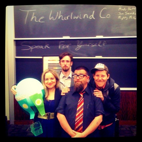 Whirlwind Co., Boston University — April 30, 2012 (Taken with instagram)