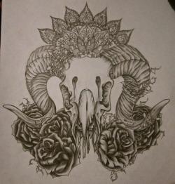Tattoo design I did for ma lady