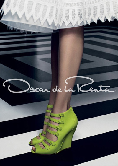 Oscar de la Renta Spring Summer 2012. Amazing colour.