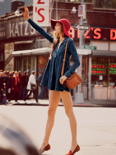 Karlie Kloss for Free People. Only possible with legs like hers…