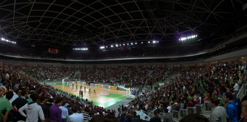 28. Arena Stožice Ljubljana, Slovenia Built: 2010 - Capacity: 12,480 Home of KK Union Olimpija, Slovenia's representative in this year's Euroleague. The arena stands alongside Olimpija's football stadium.  Photo by Tomaž Štolfa.