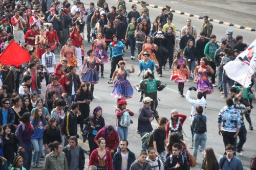 It's not a protest in Chile if no one's dancing April 25, Santiago Source