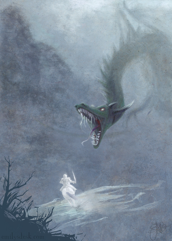 barefootmarley:  saint george and the dragon emily deisi