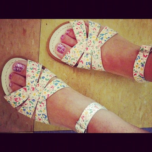 new #floral Salt Water Sandals (Taken with instagram)