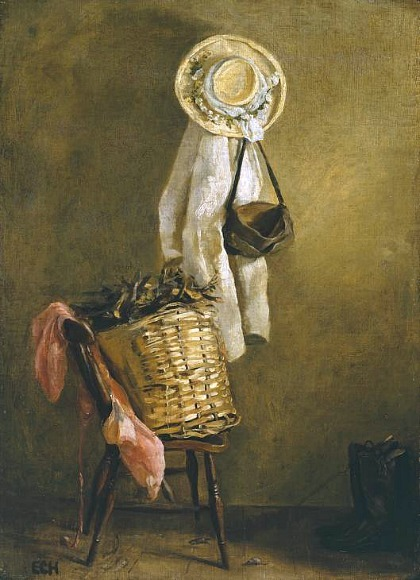 stilllifequickheart:  Edna Clarke Hall Still Life of a Basket on a Chair 1900
