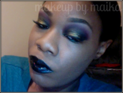 Makeup Submission starfck:dark colors aren't really my thing but i like how this turned out, what do you think ? Femme Boy: I like it. I am not really a fan of super dark lipsticks without some obvious dimension. Next time, try using Skorpios Soft Touch Shadow Pencil from Nars to add a nice iridescent shine to the black lips. Run it in the center of your bottom lip and maybe a bit on the top. It looks really good with plum/burgundy lips also.