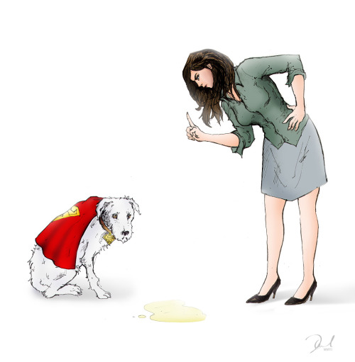 Lois and Krypto by Dan Mulcahy