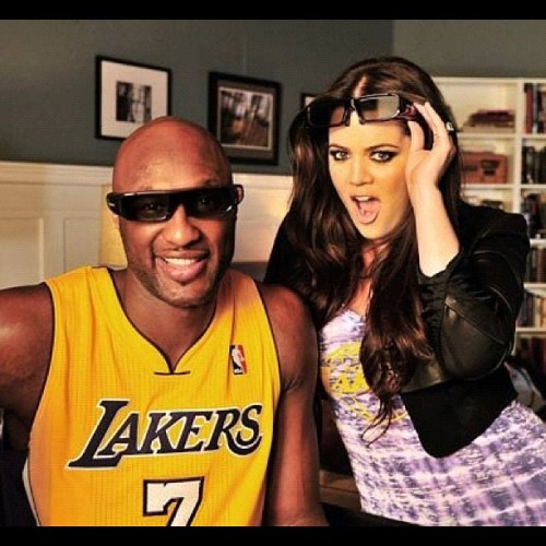somecallmecharlie:  #swag #khloé #lamar #odom #kardashian #lakers (Taken with instagram)