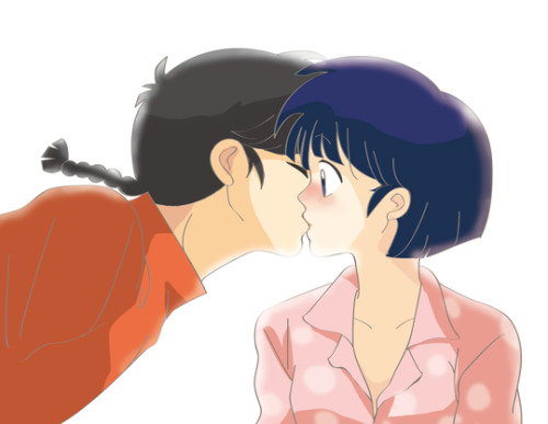 Ranma: Yatta seee~ Breakkk timeeee! Akane: *yawns* Ranma: *kisses* Akane: …….. <Silence> Ranma: hehehe. Akane: *blushes* *becames angry* RANMA NO BAKA!!!! *punch Ranma into the orbit* Ranma: KAWAIIIKUNEEEEEEEEEeeeee!!!! *flying*