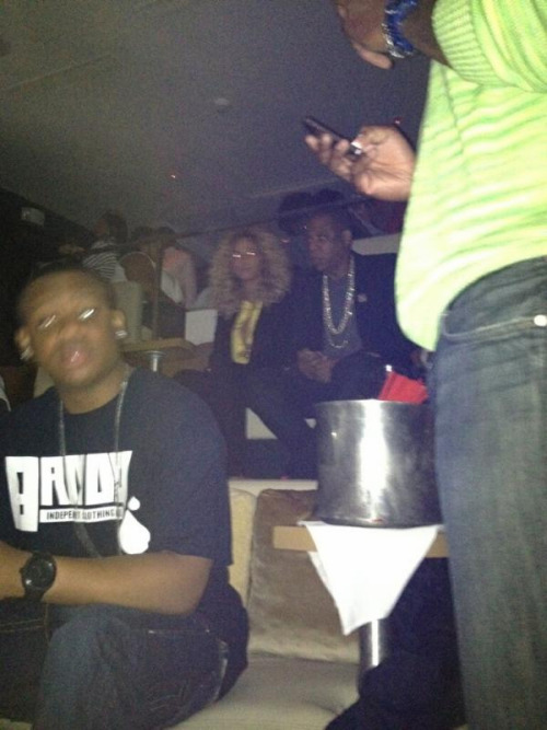 Beyonce and Jay-Z spotted at the 40/40 club April 28th