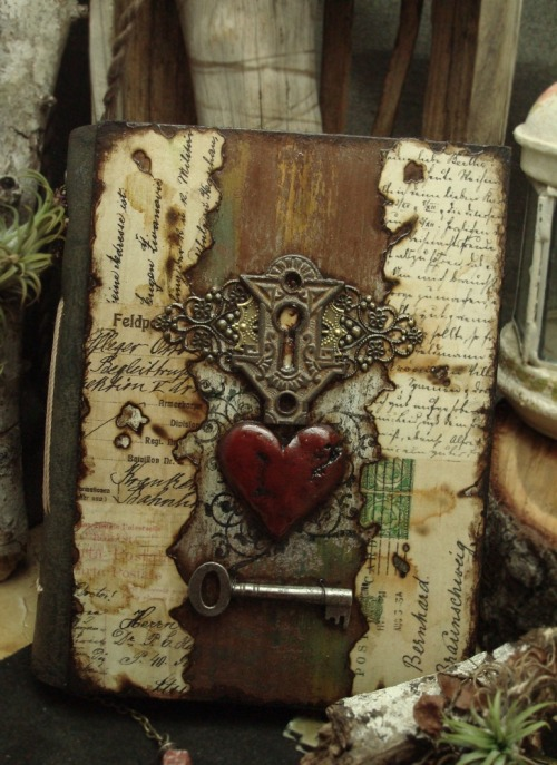 My Heart Will Go On by Luthien Thye ~ handmade journal ~